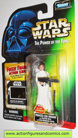 star wars action figures PRINCESS LEIA new likeness freeze frame power of the force MOC