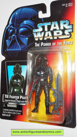 star wars action figures TIE FIGHTER PILOT .00 warning sticker power of the force moc