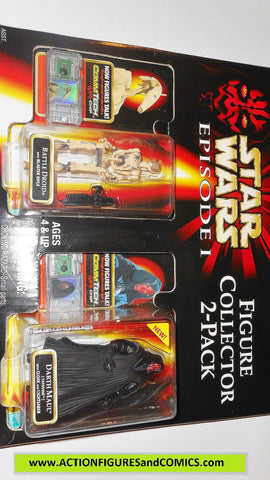 star wars action figures 2 PACK BATTLE DROID DARTH MAUL episode I 1999