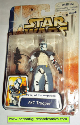 star wars action figures ARC TROOPER clone wars blue 2003 movie hasbro toys moc mip mib