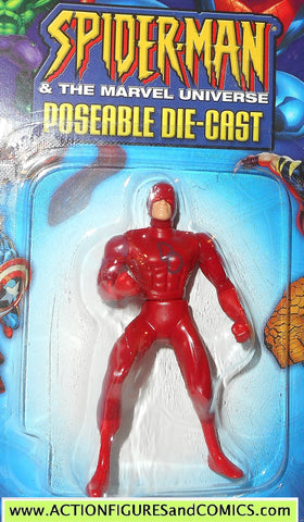 SPIDER-MAN Marvel die cast DAREDEVIL poseable action figure 2002 toybiz universe MOC