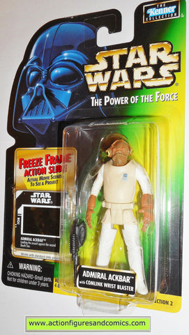 star wars action figures ADMIRAL ACKBAR freeze frame power of the force 1997 hasbro toys moc mip mib