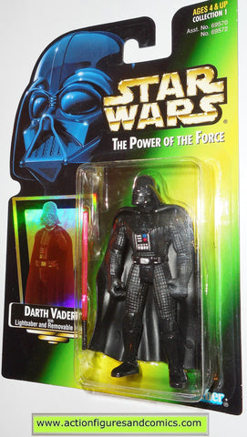 star wars action figures DARTH VADER power of the force .01 hasbro toys moc mip mib