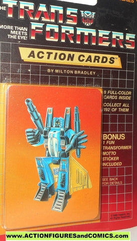 Transformers action cards DIRGE seeker jet decepticon trading card 1985