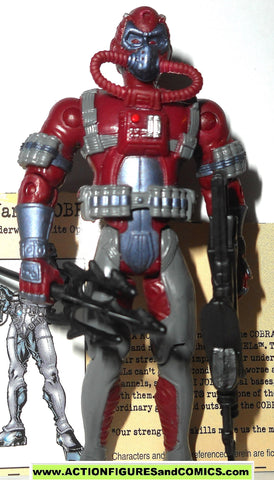 gi joe COBRA MORAY 2002 v3 Dark Red maroon burgundy gijoe vs g i toy figure