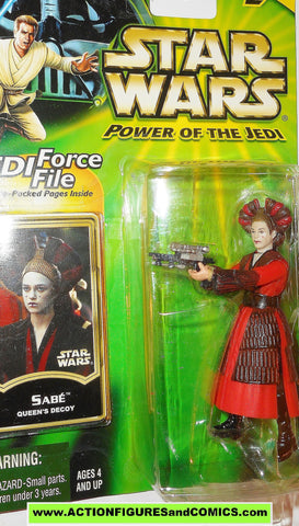 star wars action figures SABE queen amidala decoy power of the jedi moc