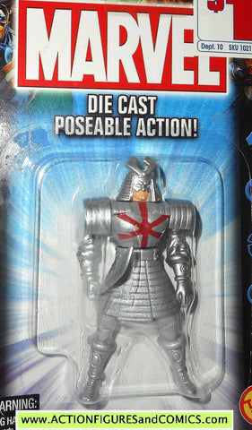 Marvel die cast SILVER SAMURAI poseable action figure 2002 toybiz x-men universe moc