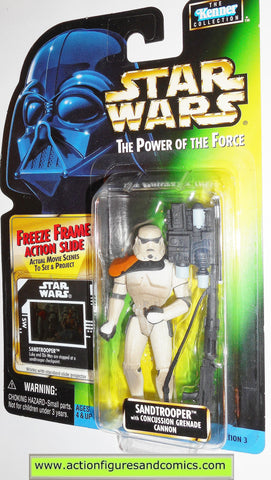 star wars action figures SANDTROOPER freeze frame power of the force toys moc