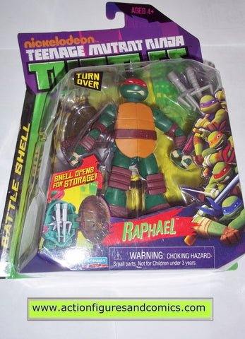 teenage mutant ninja turtles RAPHAEL RAPH BATTLE SHELL Nickelodeon 2012 playmates toys mib moc mip tmnt