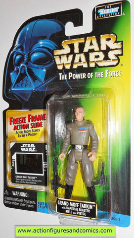 star wars action figures GRAND MOFF TARKIN freeze frame 02 power of the force toys moc