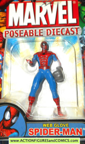 Marvel die cast SPIDER-MAN WEB GLOVE poseable action figure 2002 toybiz MOC