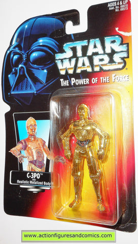 star wars action figures C-3PO .00 red card 1995 power of the force hasbro toys moc