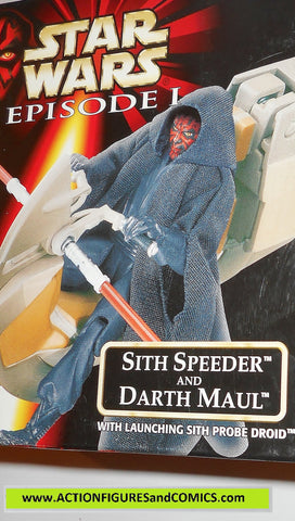 star wars action figures DARTH MAUL SITH SPEEDER episode I 1999 moc mib