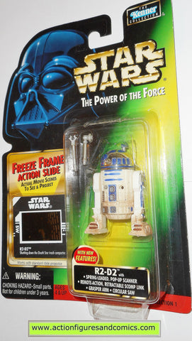 star wars action figures R2-D2 freeze frame DEATH STAR power of the force moc