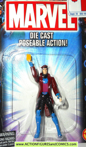 Marvel die cast GAMBIT poseable action figure 2002 toybiz x-men universe moc