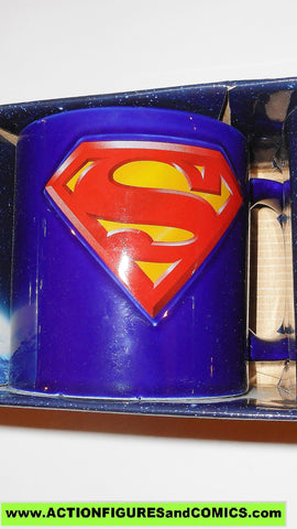 DC comic super heroes SUPERMAN LOGO mug 18 oz SCULPTED