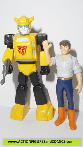 Transformers pvc BUMBLEBEE & SPIKE espionage team heroes of cybertron scf