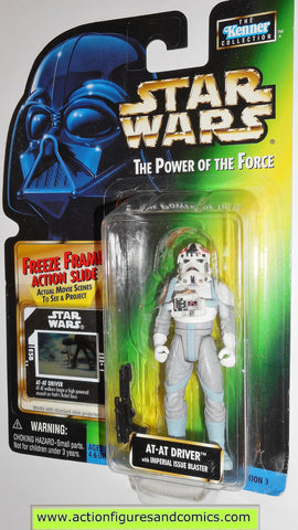 star wars action figures AT AT DRIVER 1998 power of the force hasbro toys moc