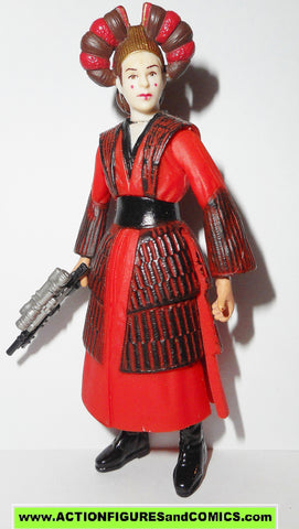star wars action figures SABE queen amidala decoy power of the jedi