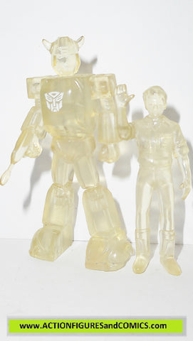 Transformers pvc BUMBLEBEE & SPIKE clear variant heroes of cybertron scf