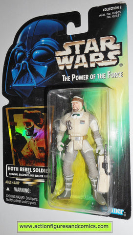 star wars action figures HOTH REBEL SOLDIER 1997 col 2 .00 power of the force action figure