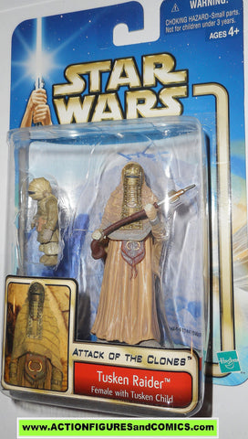 star wars action figures TUSKEN RAIDER female child INSERT 2002 Attack of the clones saga movie moc