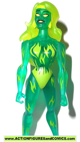 justice league unlimited FIRE green flame variant dc universe