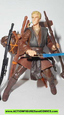 star wars action figures ANAKIN SKYWALKER tatooine attack 2002 complete attack of the clones saga aotc
