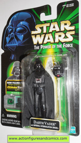 star wars action figures DARTH VADER interrogation droid commtech power of the force moc