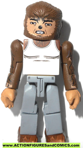 minimates WOLFMAN werewolf white shirt universal classic monsters toy figure