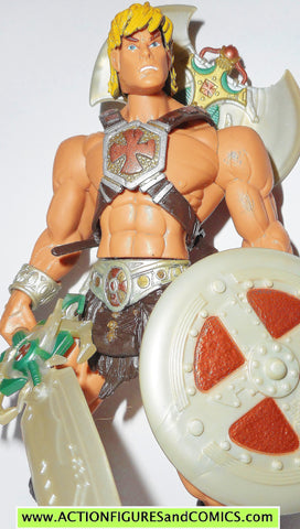 masters of the universe HE-MAN IRON CROSS variant 2002 complete motu action figures