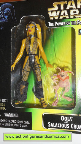star wars action figures OOLA SALACIOUS CRUMB power of the force moc 000