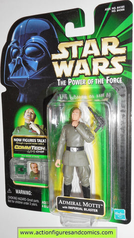 star wars action figures ADMIRAL MOTTI 1999 power of the force moc
