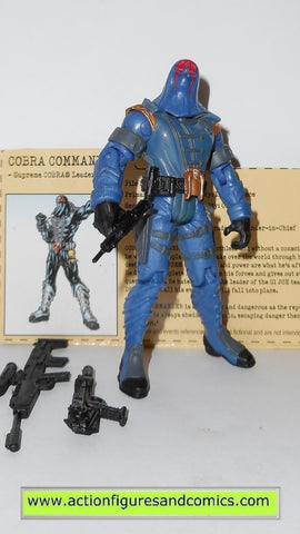 gi joe COBRA COMMANDER 2002 v11  gijoe vs cobra action figures hasbro toys g i