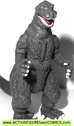 GODZILLA bandai GODZILLA B&W 2 inch 2002 1954 movie pack of destruction
