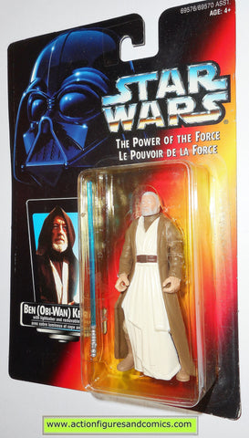 star wars action figures BEN OBI WAN KENOBI bi-lingual red card power of the force toys moc