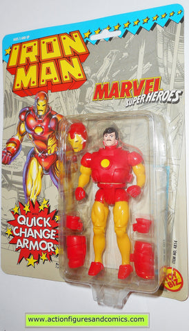 marvel super heroes toy biz IRON MAN 1991 quick change armor action figures universe moc