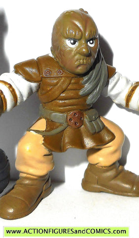 STAR WARS galactic heroes WEEQUAY 2007 jabba skiff guard action figure