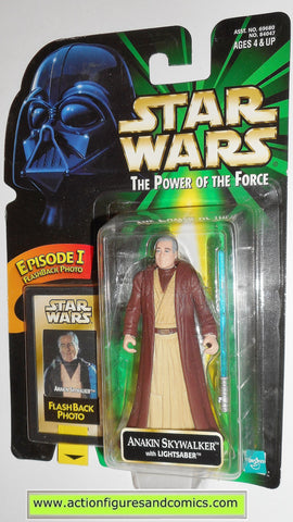 star wars action figures ANAKIN SKYWALKER flashback power of the force hasbro toys moc