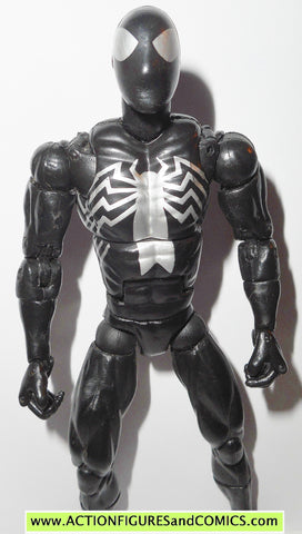marvel legends SPIDER-MAN black suit silver logo glider origins classics fig