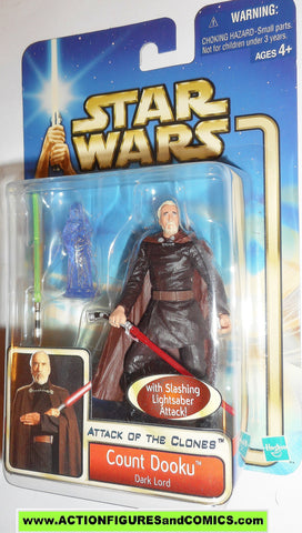 star wars action figures COUNT DOOKU dark lord 2002 Attack of the clones saga movie hasbro toys moc mip mib