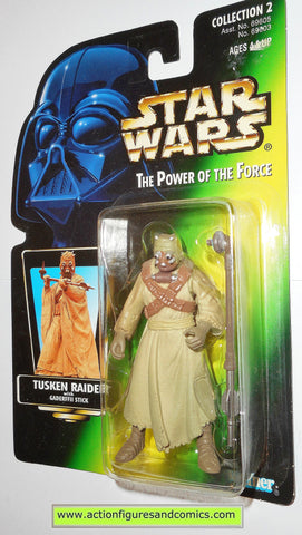 star wars action figures TUSKEN RAIDER green photo .01 power of the force moc