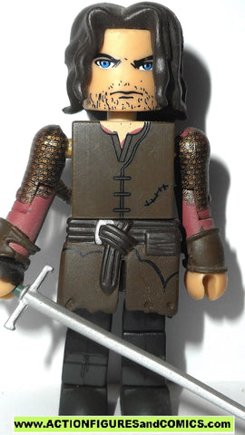 minimates lord of the rings ARAGORN STRIDER lotr hobbit 2004 action figure