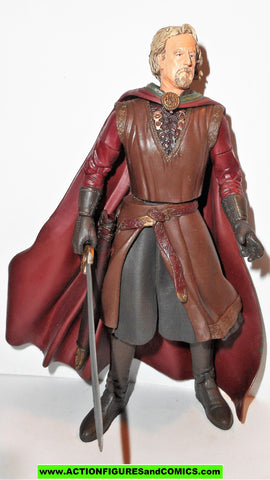 Lord of the Rings KING THEODEN sword attack toy biz complete hobbit