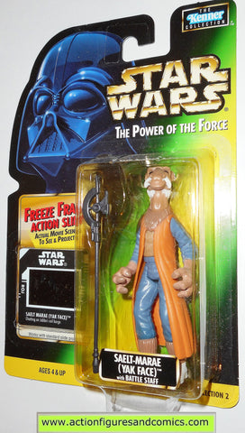 star wars action figures SAELT MARAE freeze frame 01 power of the force moc