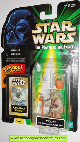 star wars action figures YODA flashback power of the force 1998 hasbro toys moc mip mib