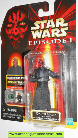 star wars action figures DARTH MAUL sith lord episode I hasbro toys moc