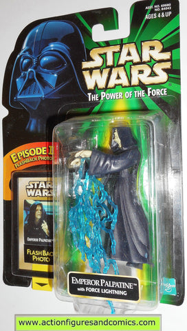 star wars action figures EMPEROR PALPATINE force lightning flashback power of the force 1998 hasbro toys moc mip mib