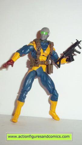 marvel universe GI JOE SNAKE EYES x-men team uniform 25th anniversary action figure