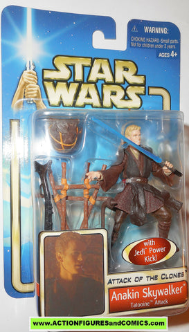 star wars action figures ANAKIN SKYWALKER tatooine attack 2002 Attack of the clones saga movie hasbro toys moc mip mib